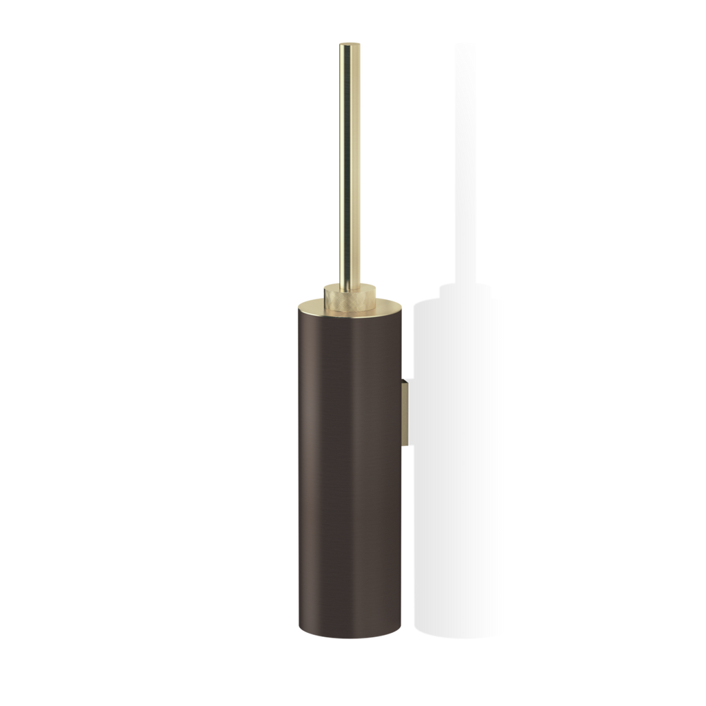 Club Toilet Brush Set Wall Mounted WBG - Dark Bronze / Matte Gold