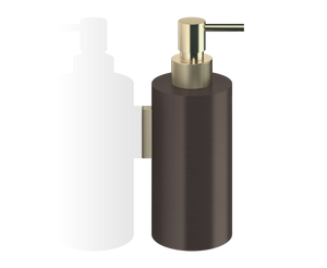 Club Soap Dispenser Wall Mounted WSP3 - Dark Bronze / Matt Gold