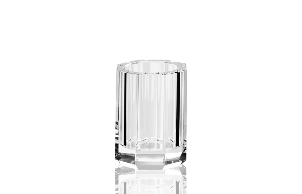 Kristall tumbler / toothbrush holder crystal clear