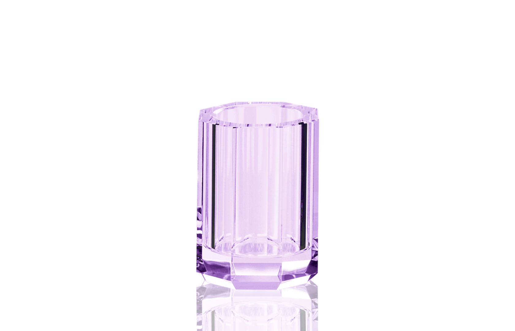 Kristall tumbler / toothbrush holder violet