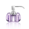 Kristall soap dispenser violet - chrome