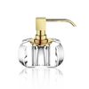 Kristall soap dispenser crystal clear - gold