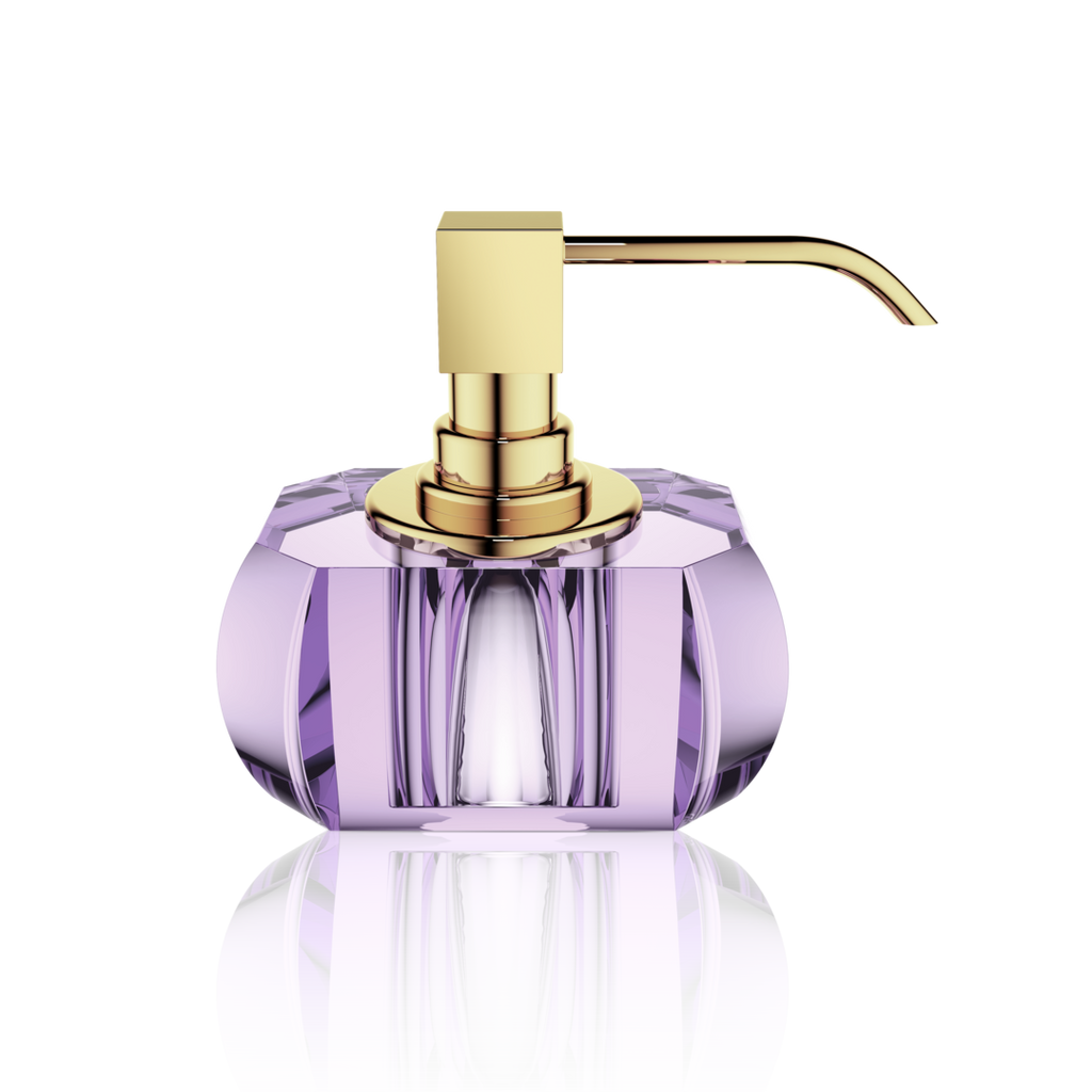 Kristall soap dispenser violet - gold