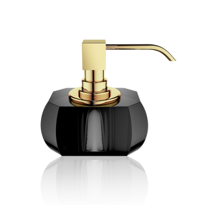 Kristall soap dispenser anthracite - gold