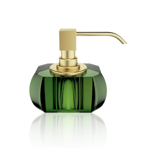 Soap Dispenser Kristall English Green - Gold Matt