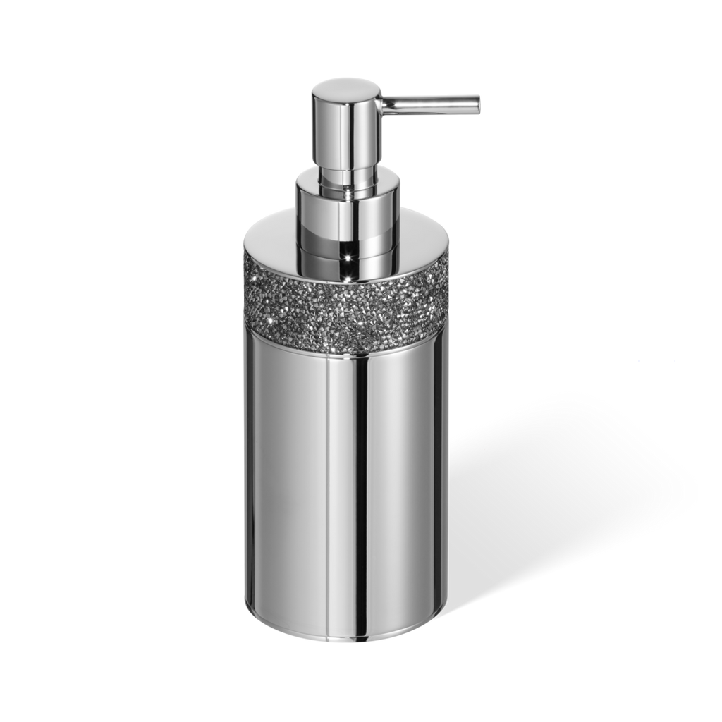 Swarovski Crystals - Rocks soap dispenser free standing chrome