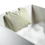 Loft Bath Pillow with Suction Cups - Cream Nylon