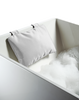 Loft Bath Pillow with Suction Cups - White Nylon