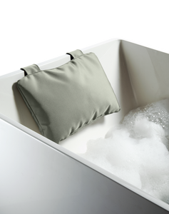 Loft Bath Pillow with Suction Cups - Grey Nylon