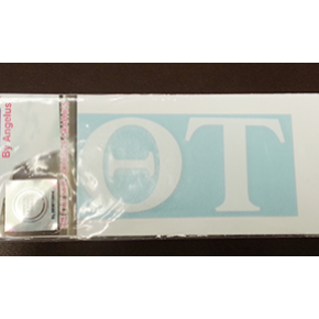 Greek Letter One Color Auto Sticker