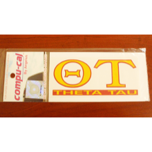 Greek Letter Full Color Auto Sticker