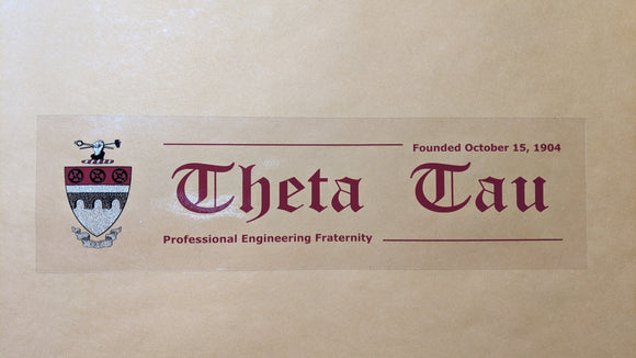 Theta Tau Window Cling