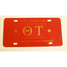 Theta Tau License Plate