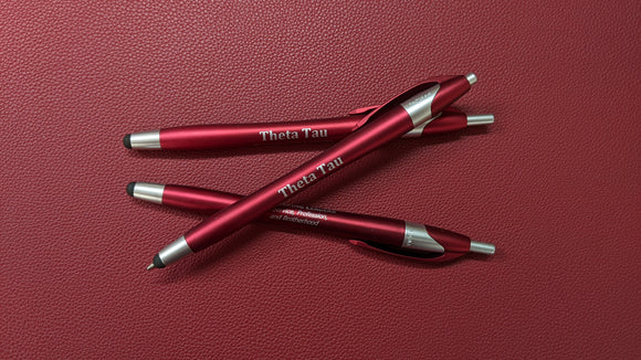 Theta Tau Pen with Stylus