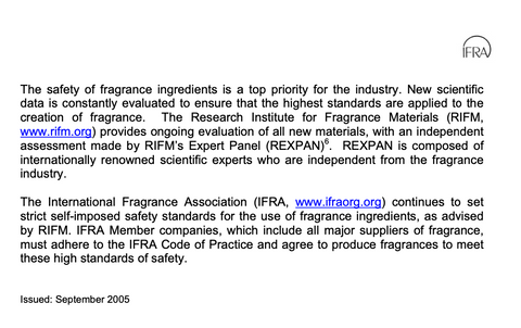 IFRA POSITION STATEMENT ON DIETHYL PHTHALATE (DEP) Page 3