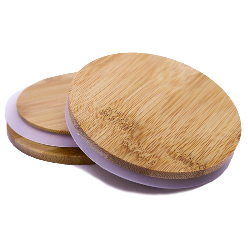 Bamboo Lids - Large - Natural Varnished