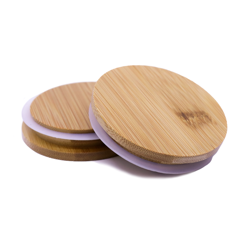 Bamboo Lids - Medium - Natural Varnished