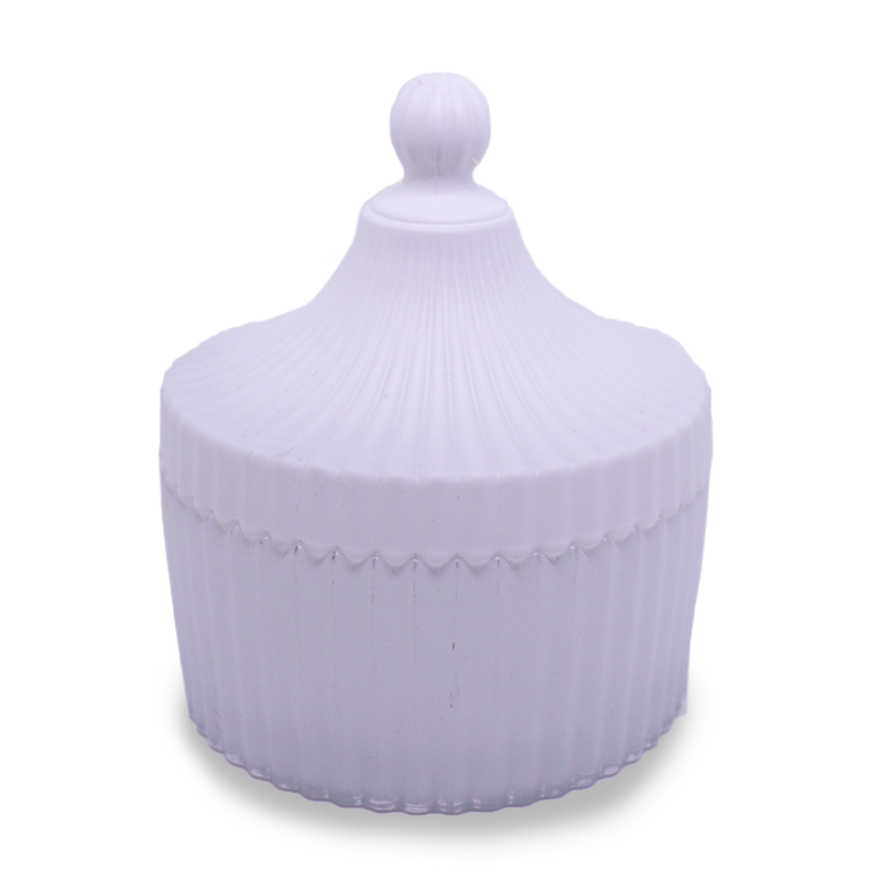 Carousel with Lid - White Medium