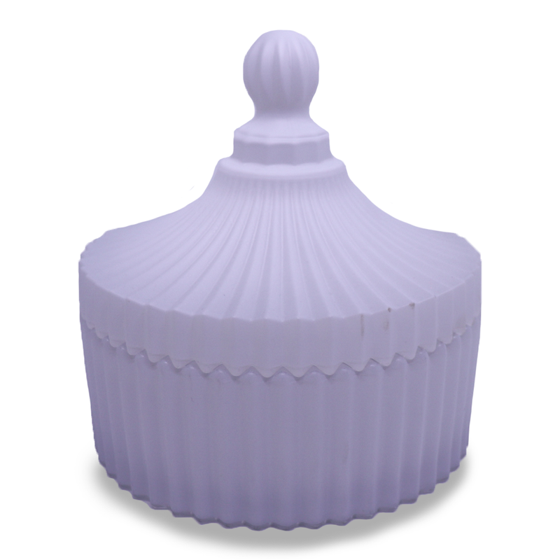 Carousel with lid - Large White