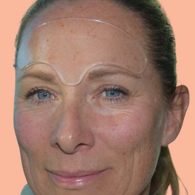 Goodbye Wrinkles silicone forehead mask will help to smooth wrinkles and hydrate the skin on your forehead.