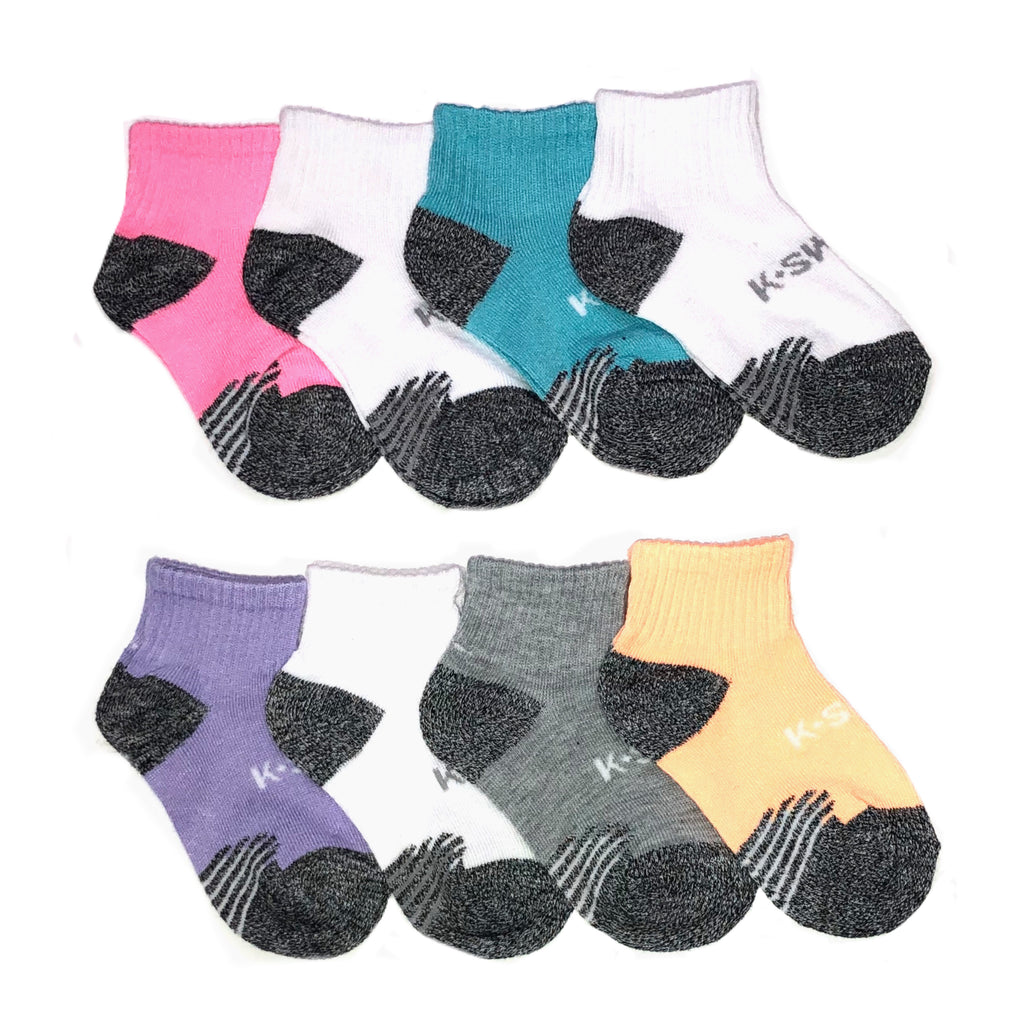 K-Swiss 8pk Quarter Socks