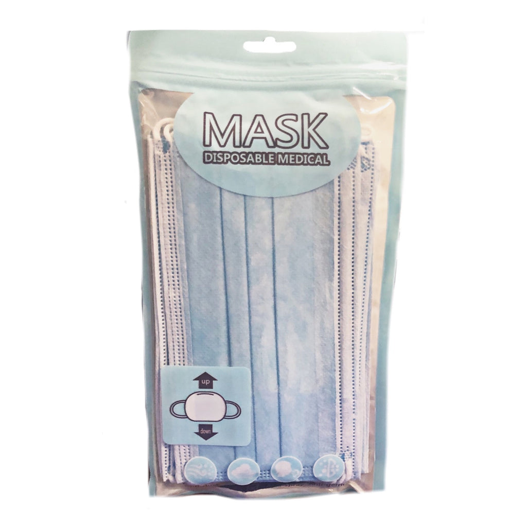 10 Pack 3-Ply Disposable Earloop Face Masks