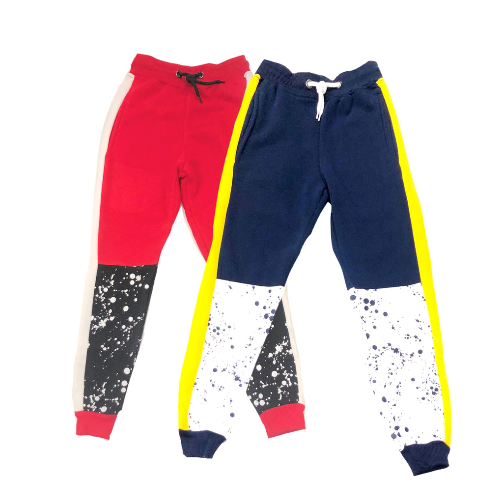 Galaxy Fleece Splatter Joggers
