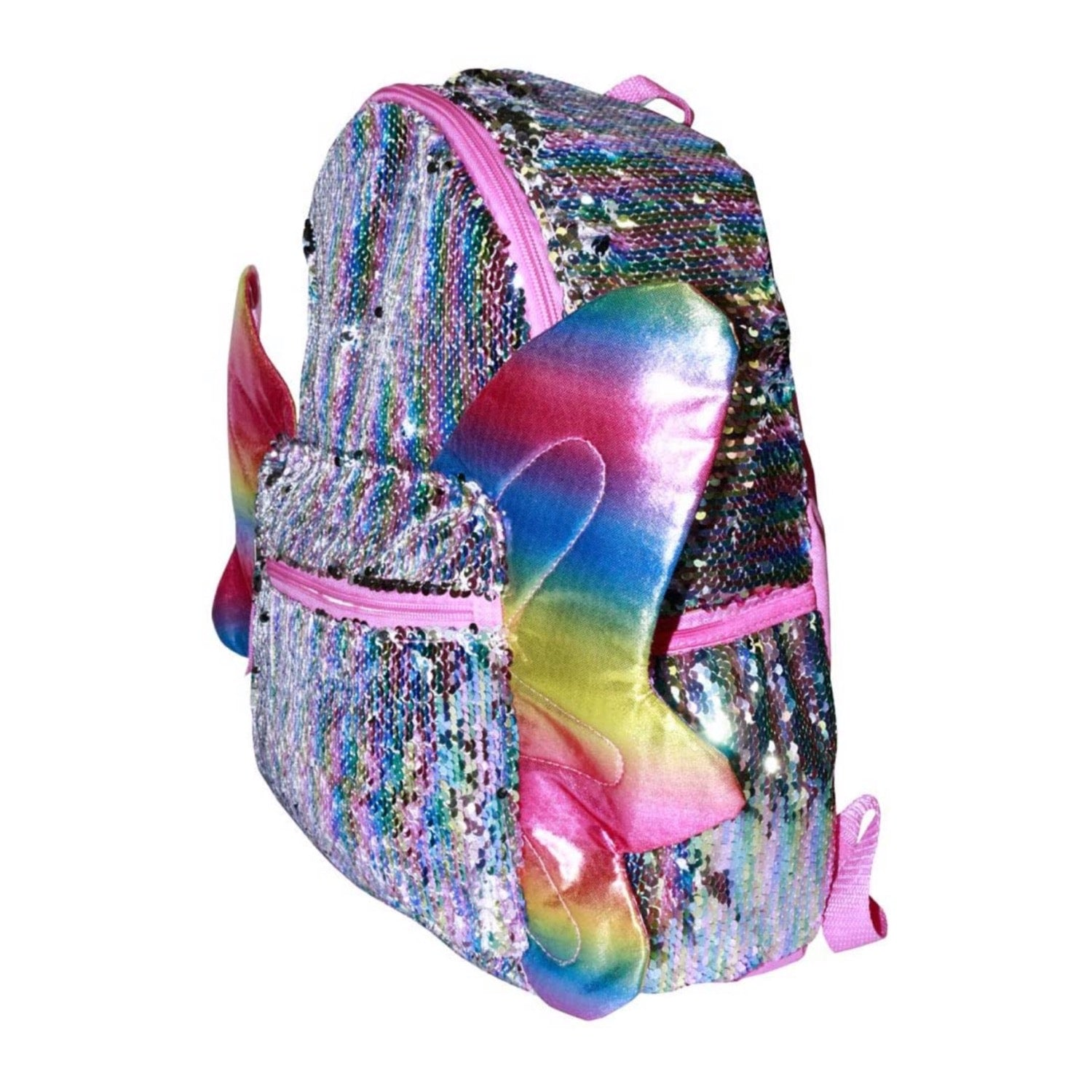 Rainbow Sequin Butterfly Backpack