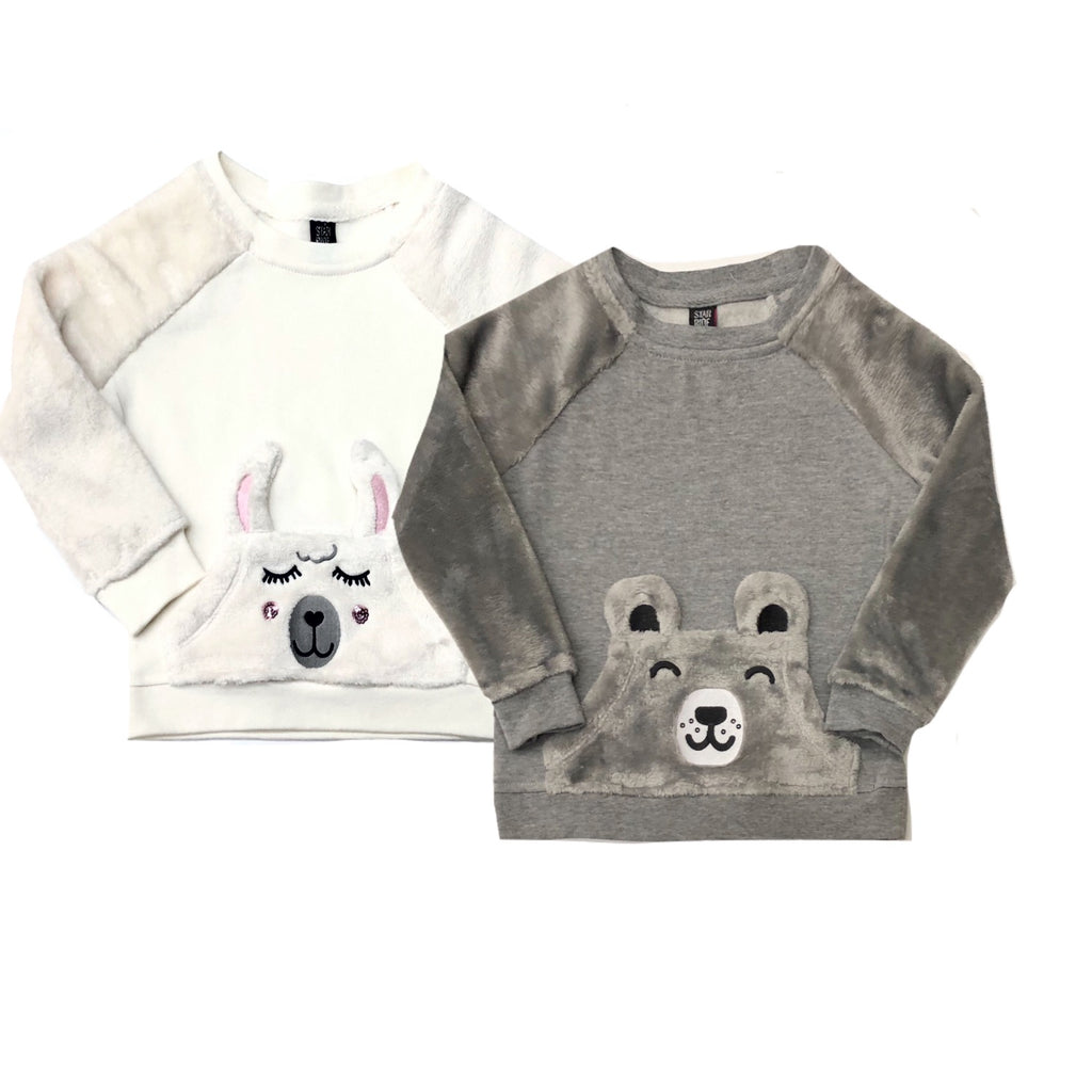 Star Ride - Plush Sweatshirt  w/ Kangaroo Pocket