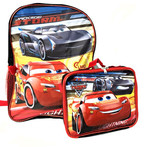 Cars 3 Backpack w/ Lunch Bag