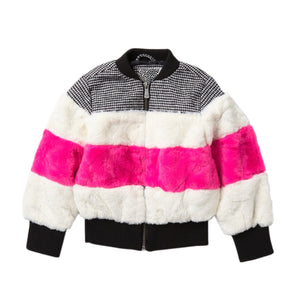 Kensie Girl Faux Fur Bomber Jacket