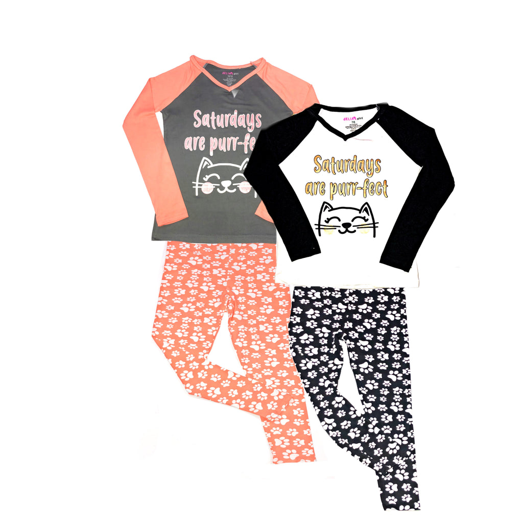 "deLIA""S Girl -Saturdays Are Purr-Fect 2pc Pajamas"
