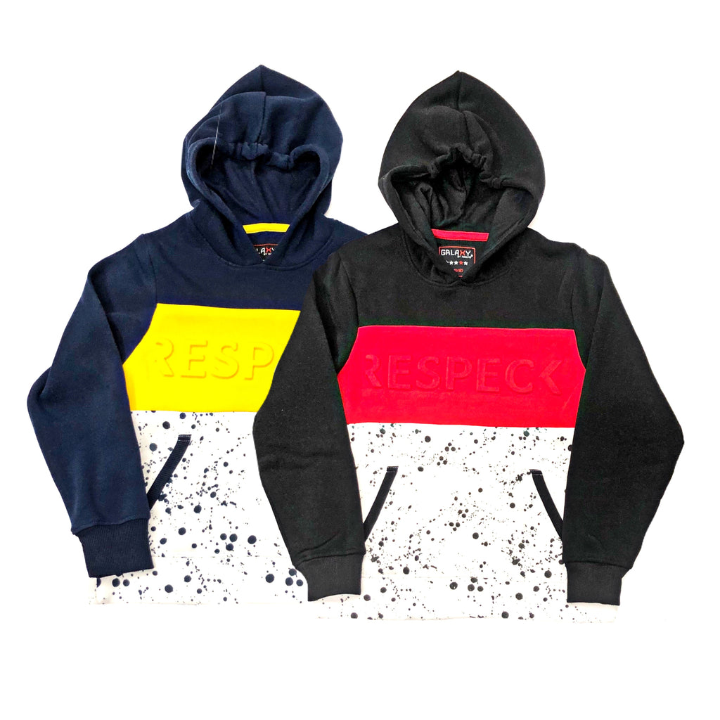 Galaxy Fleece Hoodie W/ Embossed Print