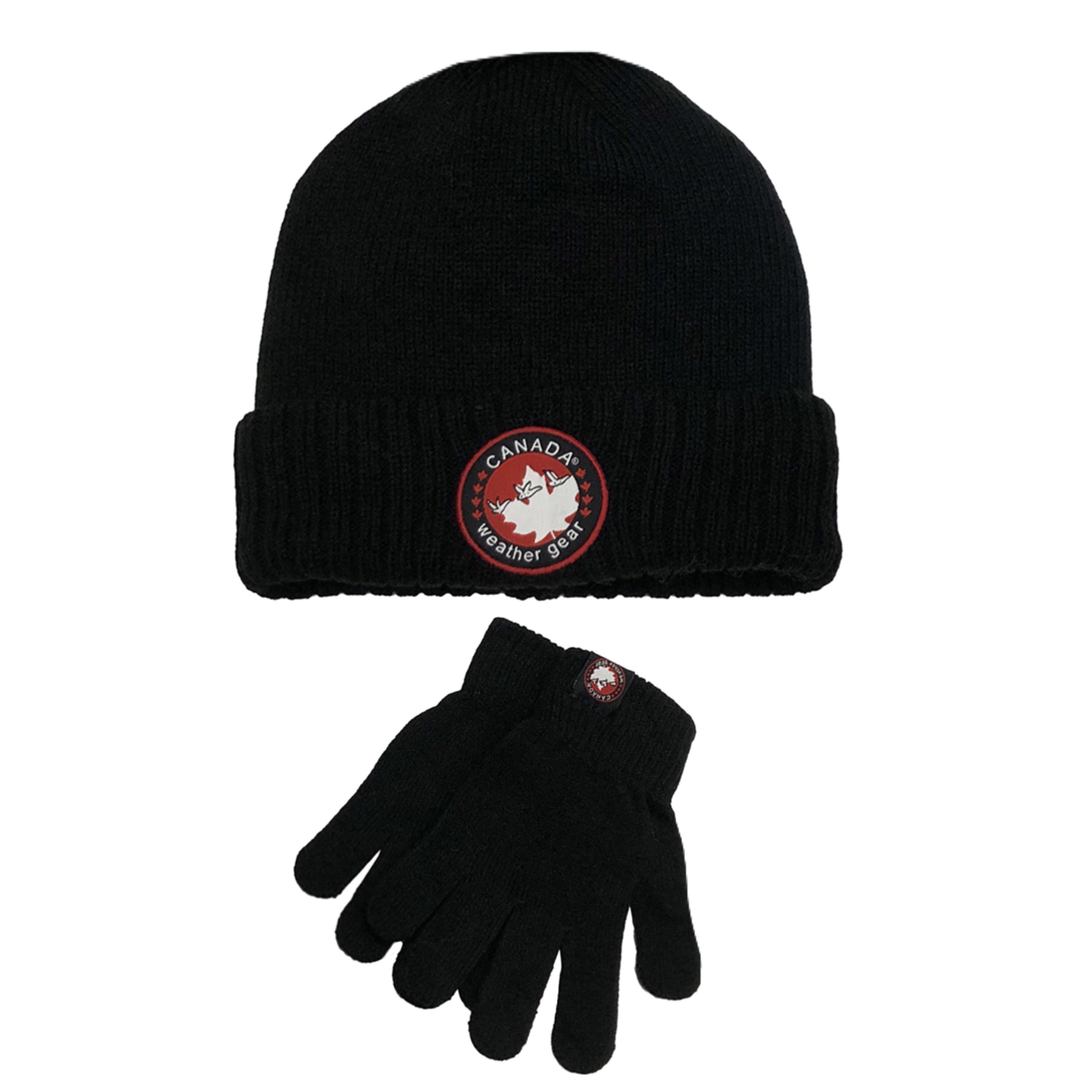 Boys CANADA WEATHER GEAR Hat and Gloves Set