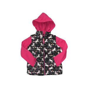 Girls Pink Platinum 2fer-Jacket