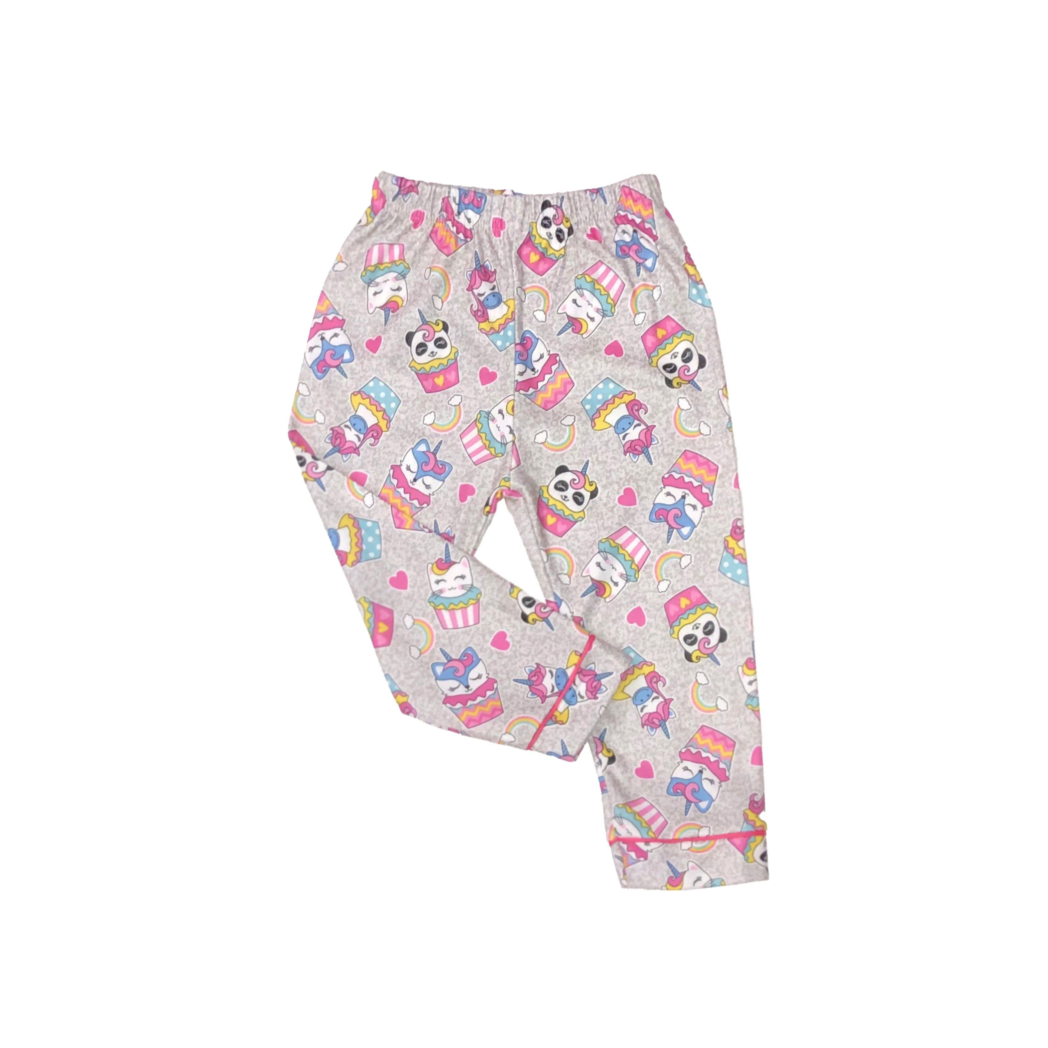 Mon Petit Toddler Girls 2-Piece Patterned Flannel Pajamas