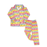 Load image into Gallery viewer, Mon Petit Girls Kitty 2-Piece Flannel Pajamas