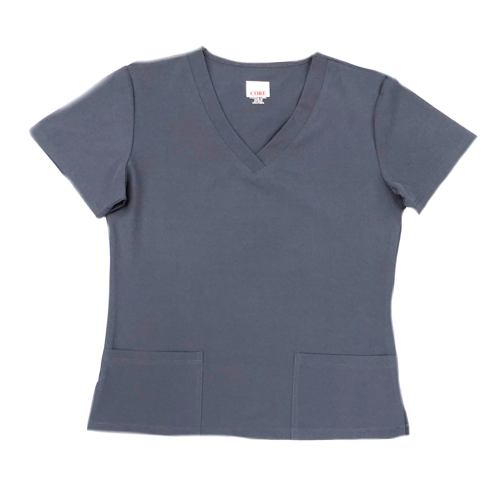 Ladies Flex Core Stretch  - V-Neck Medical Scrub Top