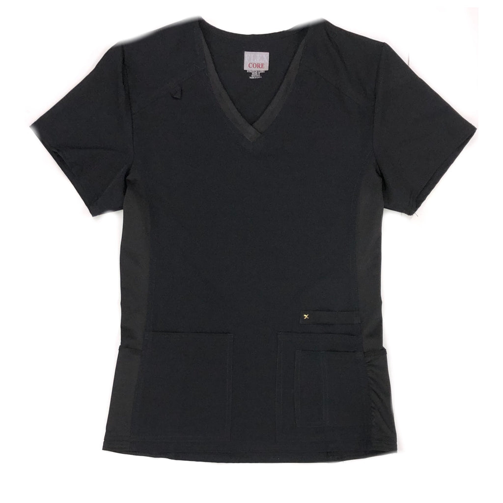 Ladies Flex Core -  Medical 6- Pocket Scrub Top