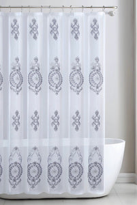 Zena - Embroidered Shower Curtain