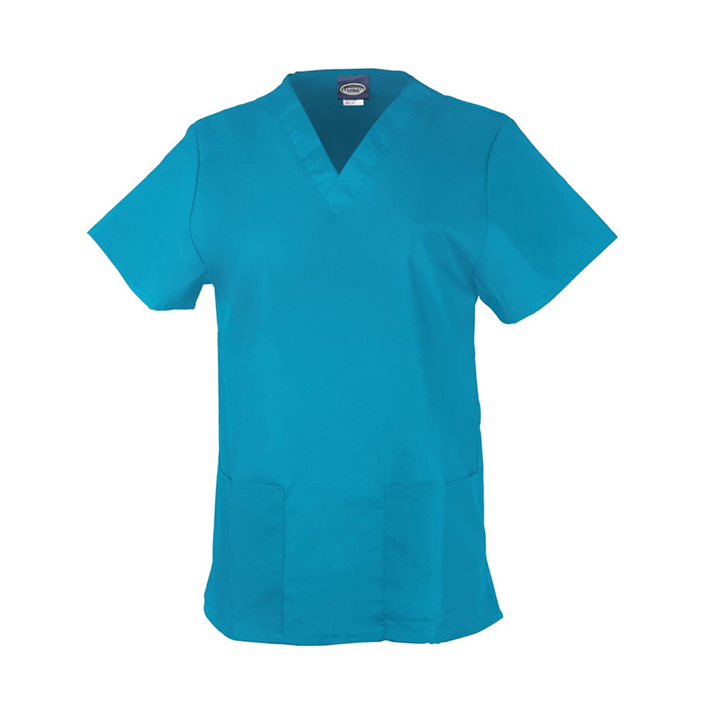 Unisex Medical Scrub V-Neck Top- Teal Blue