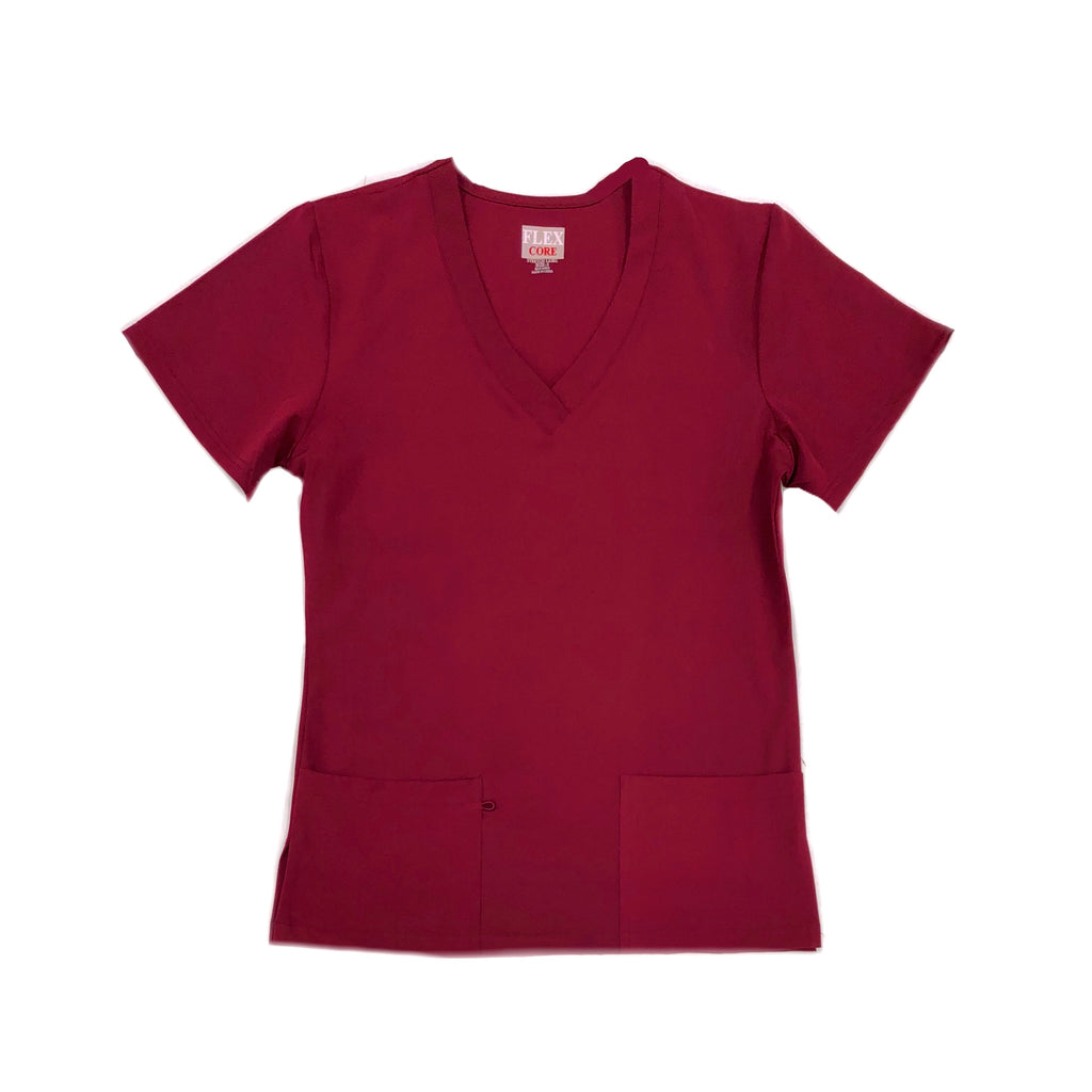 Unisex Flex Core Stretch  -  V-Neck Medical Scrub Top