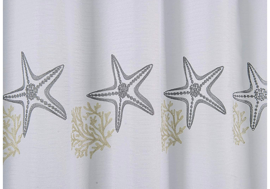 Sanibel - 13 pc Embroidered Shower Curtain