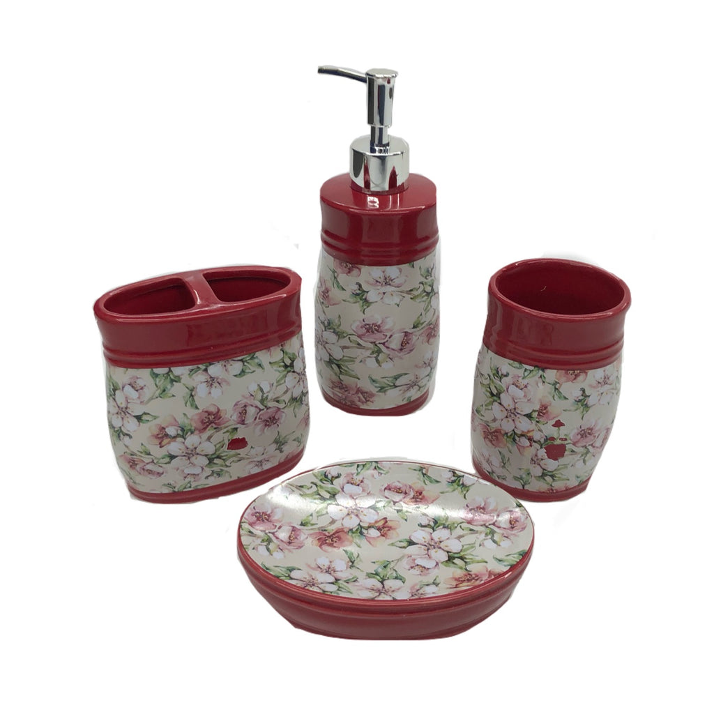 4-Piece Cherry Blossom Bath Set