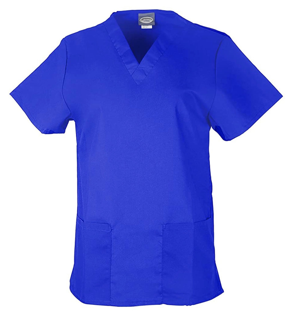 Unisex Medical Scrub V-Neck Top- Royal