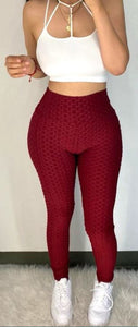 Booty Lifting x Anti Cellulite Leggings- Burgundy