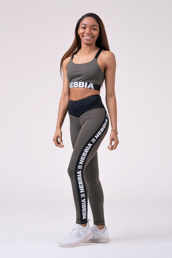 LelesBare/NEBBIA Power Your Hero Iconic Leggings 531-Safari