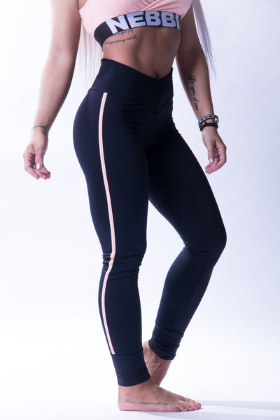 NEBBIA One Striped Leggings 652-Black
