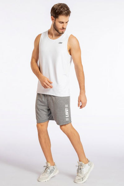 Essential Hard Training Racer T-Shirt-White