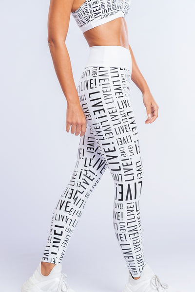 Live! Essential Legging- White